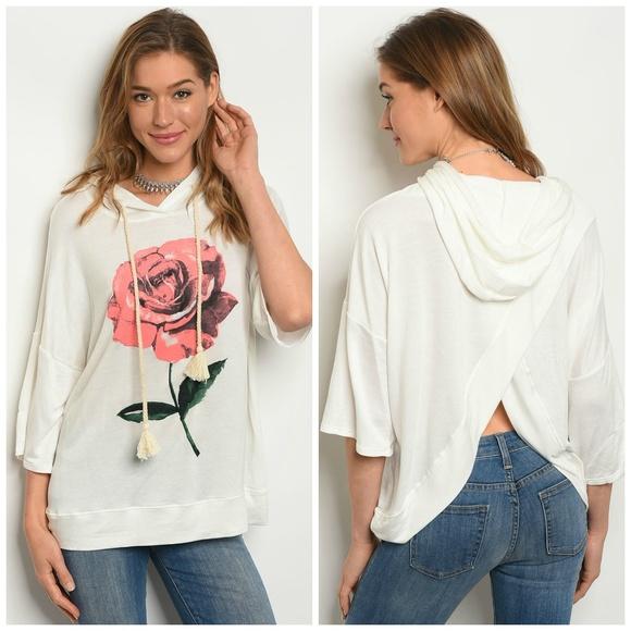 hummingbird Tops - 3 FOR $40 • Sweatshirt Look Pullover w/Hood